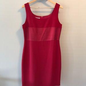 Red sleeveless dress and jacket